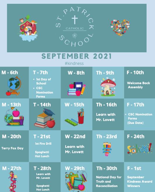 September Calendar Featured Photo