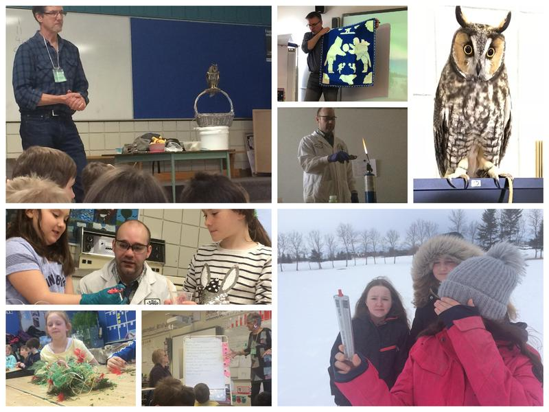 Collage of students engaged in enrichment activities.