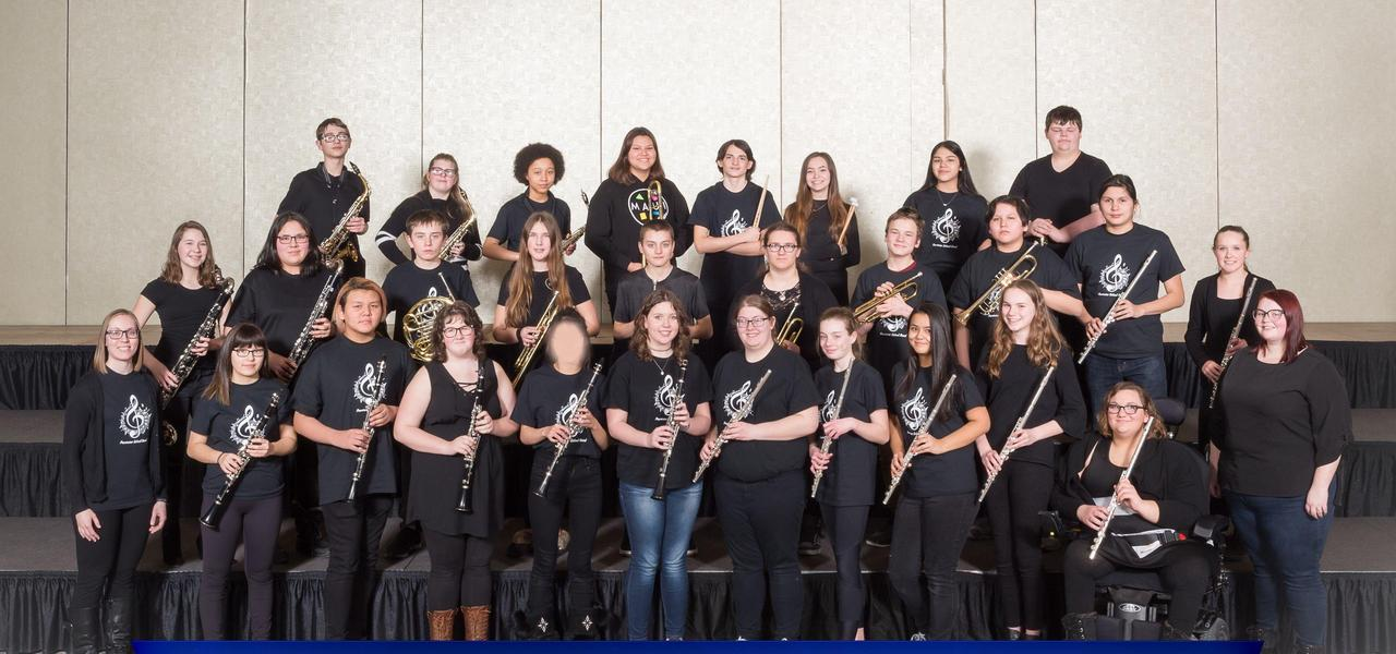 Group photo of band students