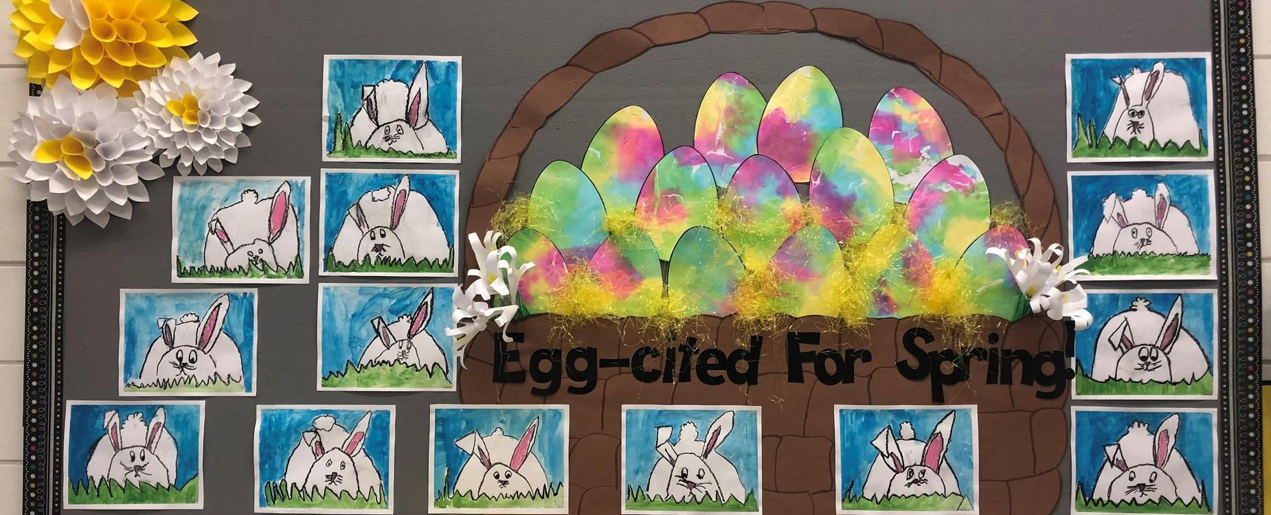 Bunny and Egg Bulletin Board