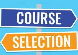 Course Selection signs