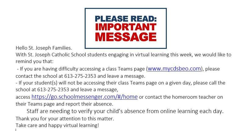 Important Message for St. Joseph Families Featured Photo