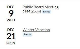 Dec dates