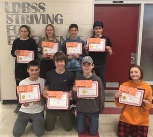 Students with Award of Excellence Certificates