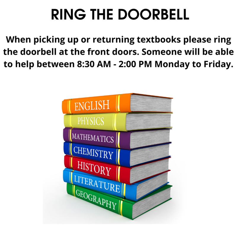 PICKING UP OR DROPPING OFF TEXTBOOKS Featured Photo