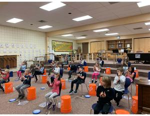 Grade 1 Students during music class