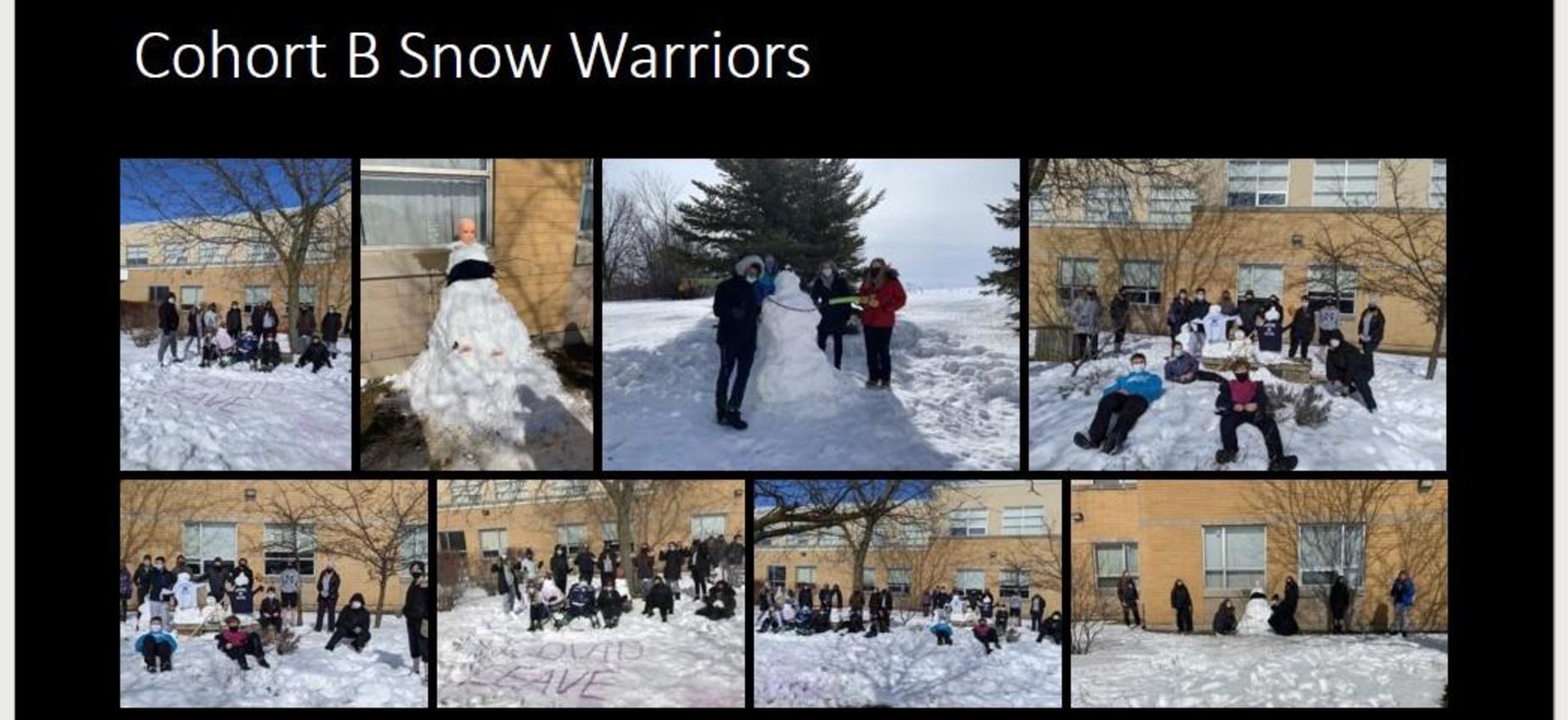 cohort b snow warriors