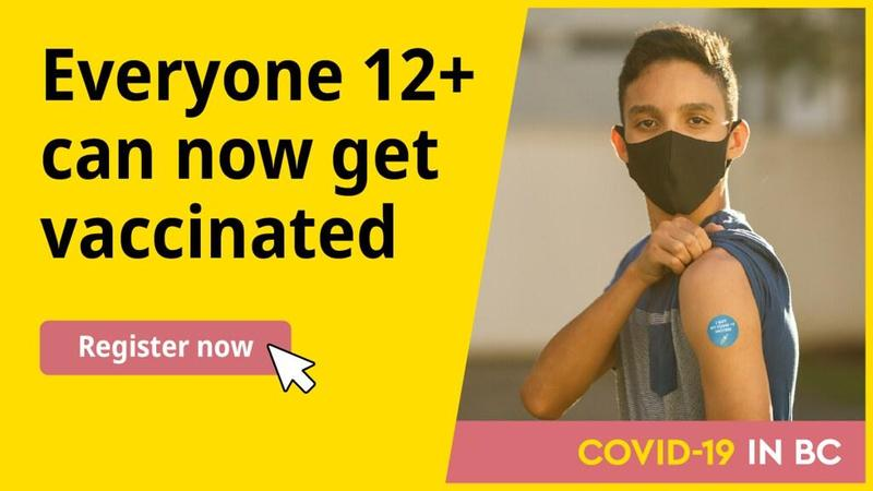 B.C. Youth 12+ Can Register, Get Vaccinated Against COVID-19 Featured Photo
