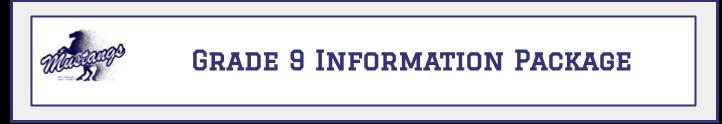 Grade 9 Information Package Banner