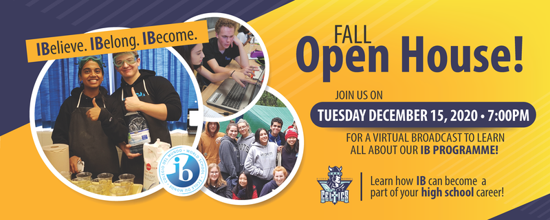 IB Fall Open House website banner