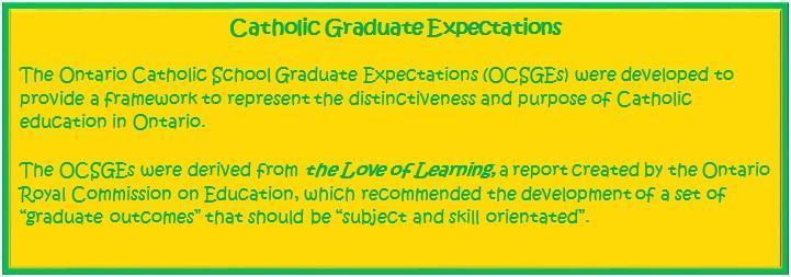 Ontario Catholic Graduate Expectations