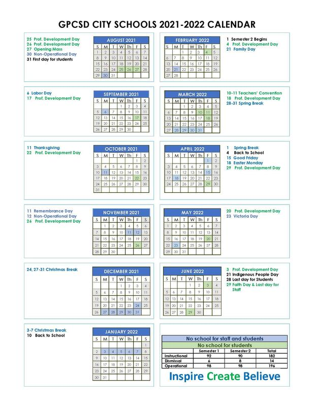 2021-2022 School Calendars NOW AVAILABLE ONLINE Featured Photo