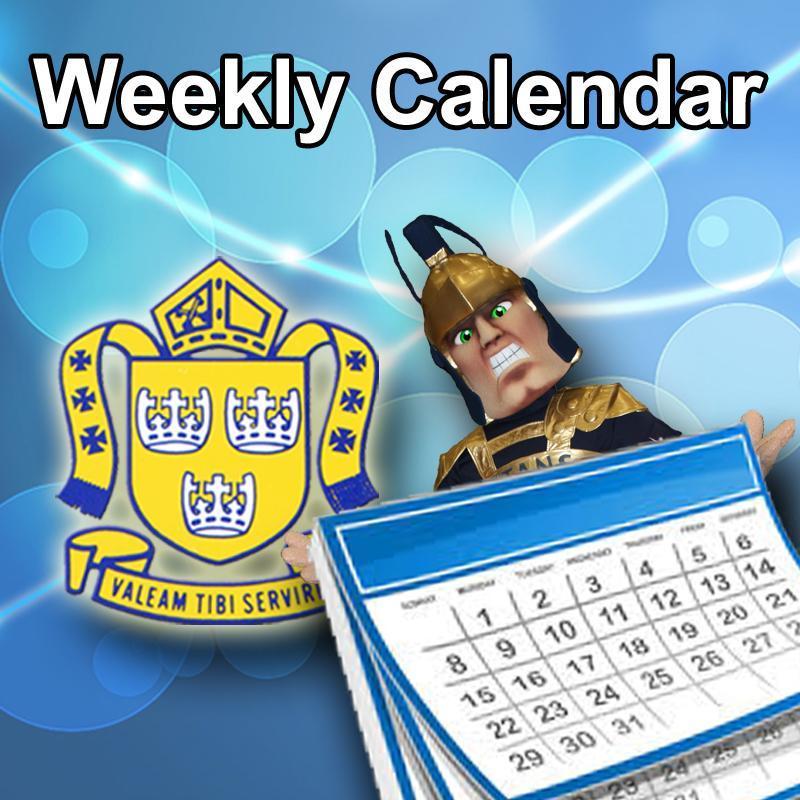RMC Weekly Calendar