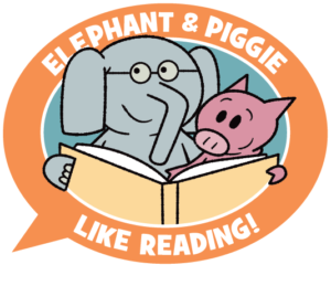 Elephant and Piggie reading.