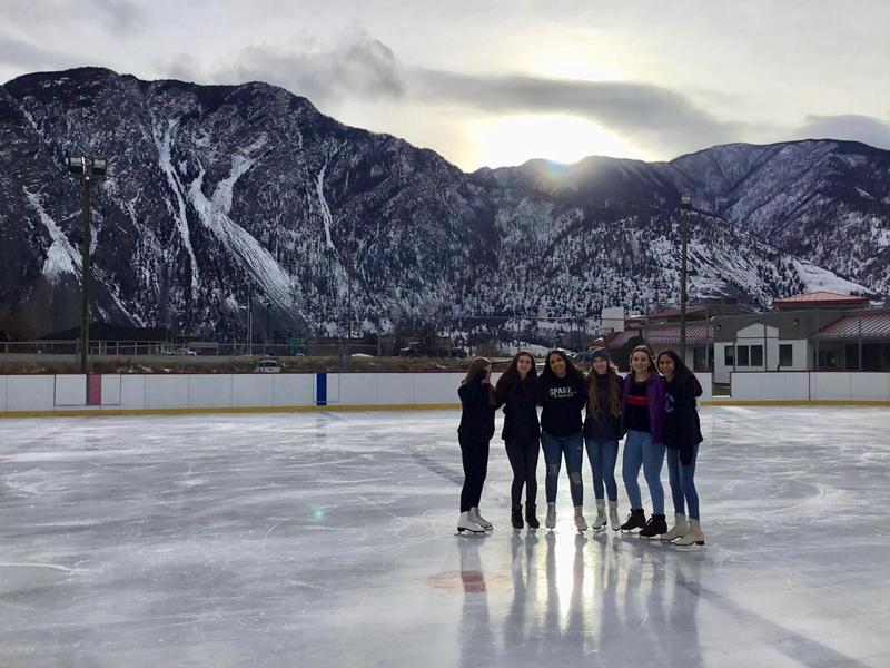 PE Students enjoying the outdoor rink