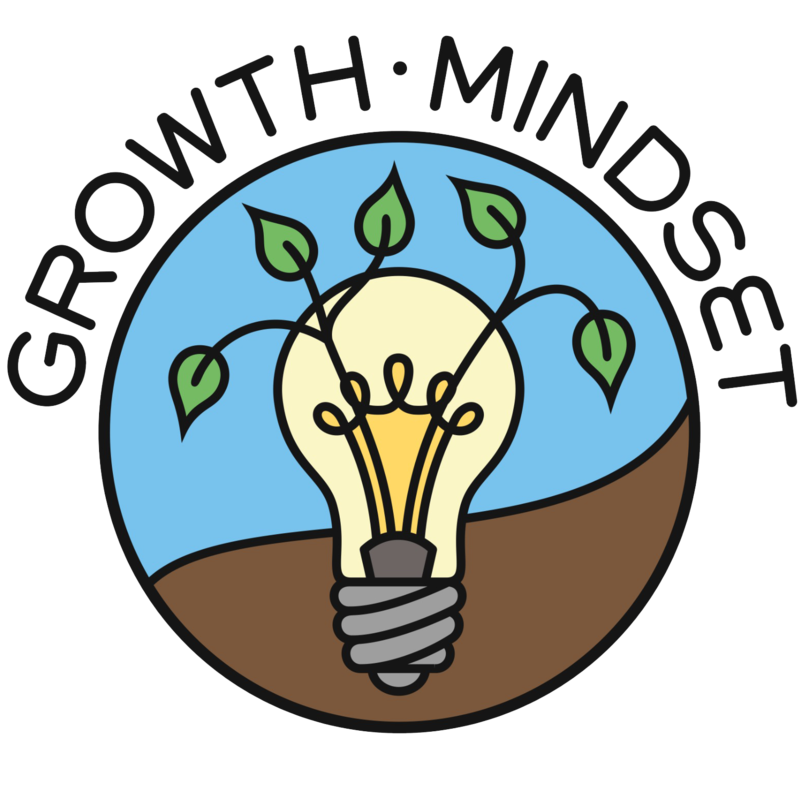 A picture of a light bulb in soil with leave coming out the top.  Above it the writing reads - Growth Mindset