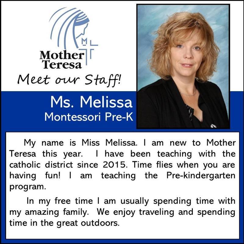 Mother Teresa Catholic School: Melissa Gast Featured Photo