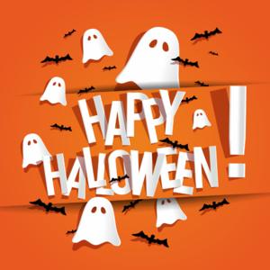 halloween graphic text