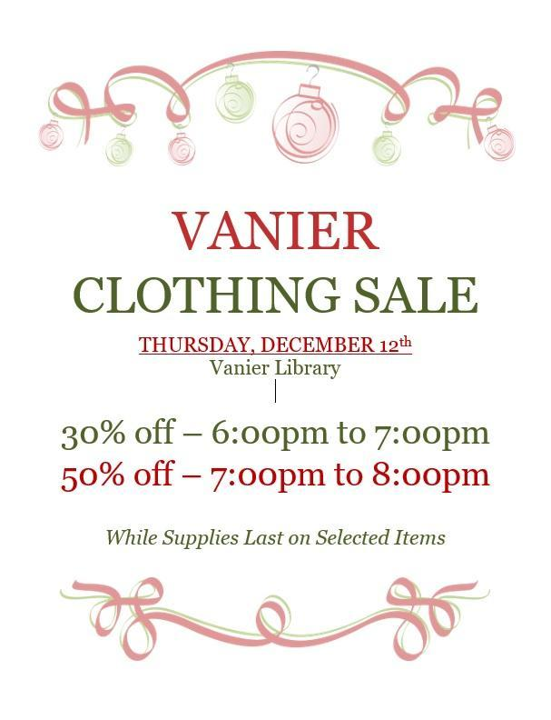 Vanier Clothing SALE Featured Photo