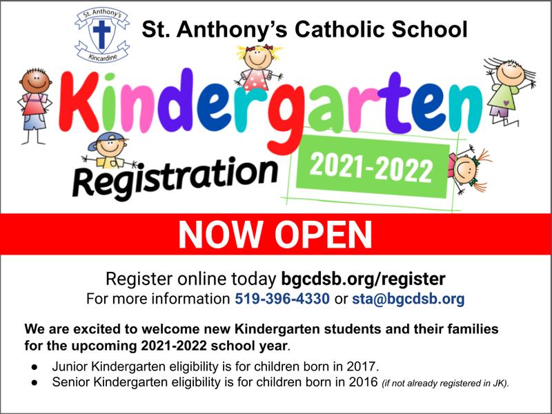 Kindergarten Registration Now Open! Featured Photo
