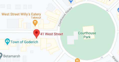 Screenshot of Google map of Goderich CEL location