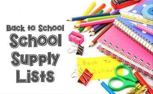 School Supply Lists for 2020-2021 Featured Photo