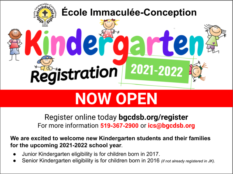 Kindergarten Registration is now open! Featured Photo