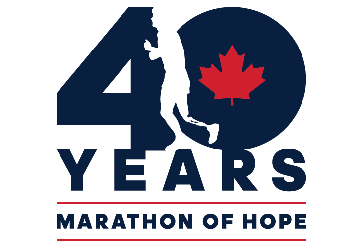 Terry Fox Marathon of Hope 40 Year Logo