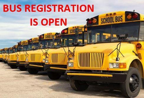 2020-2021 BUS REGISTRATION IS NOW OPEN! Featured Photo