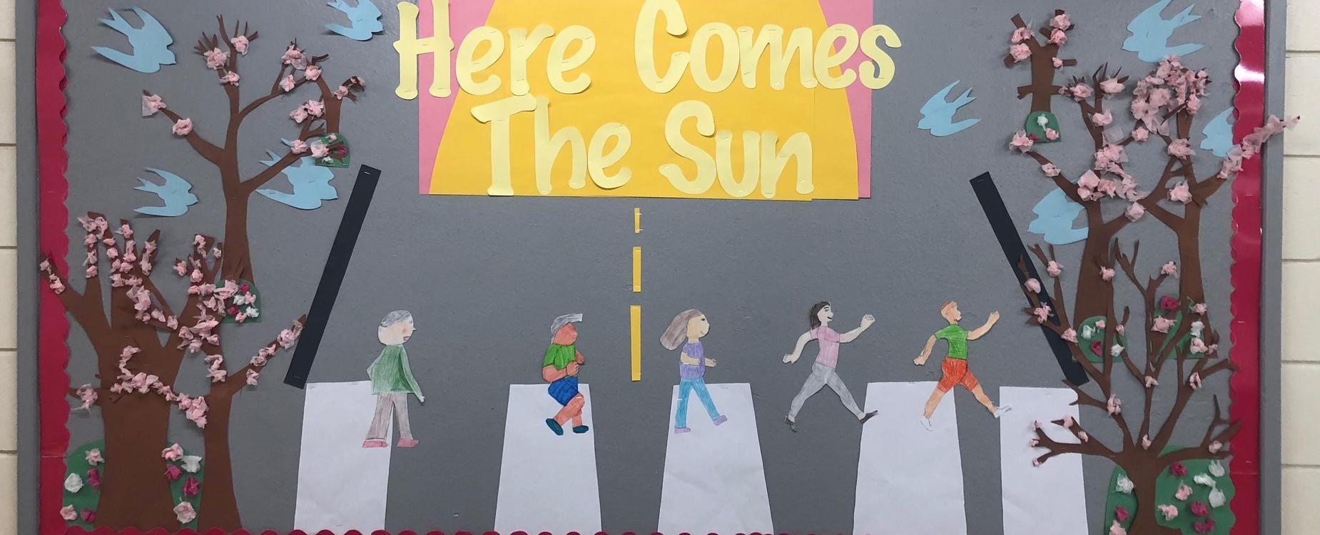 Here comes the Sun Bulletin Board