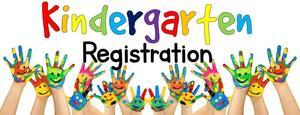 Kindergarten registration pic of kids painted hands