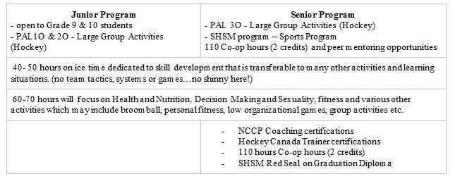 hockey academy junior and senior programs