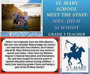 St. Mary (Beaverlodge): Julie Schmidt Featured Photo