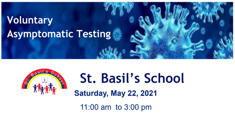 Voluntary Asymptomatic Testing At St. Basil's School Featured Photo