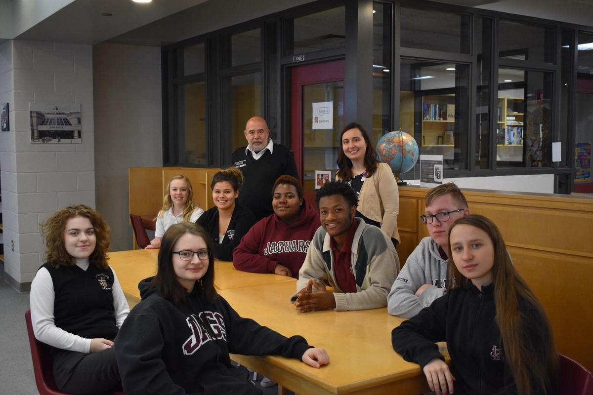 Students in the John Paul II Writing Club