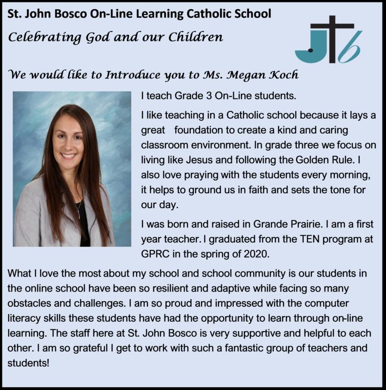 St. John Bosco Catholic School: Megan Koch Featured Photo