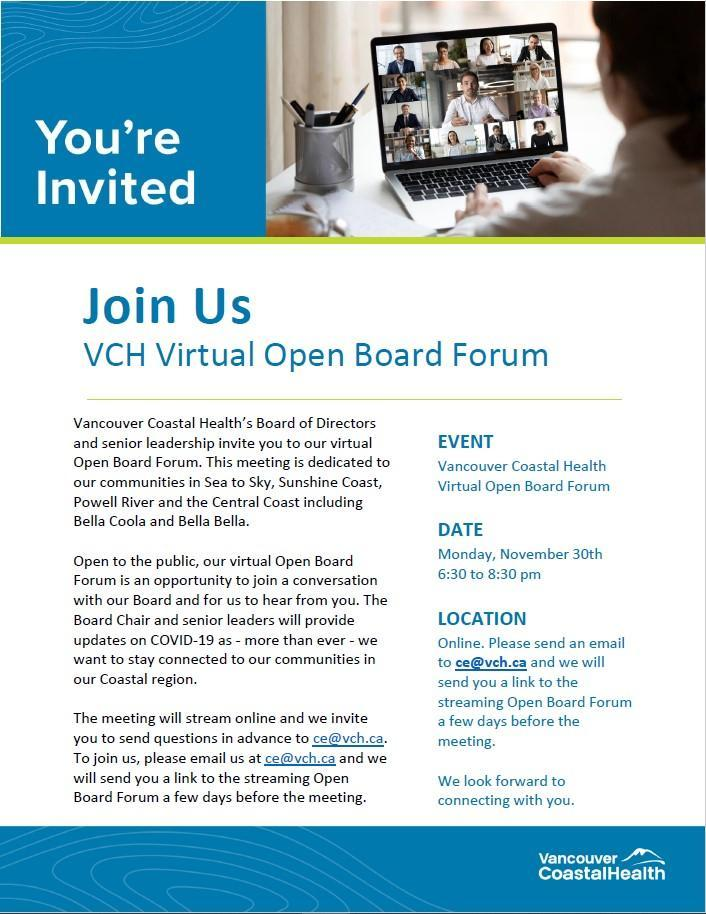 VCH Open Board Forum