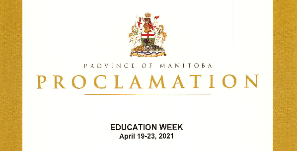 Province of Manitoba Proclamation - Education Week