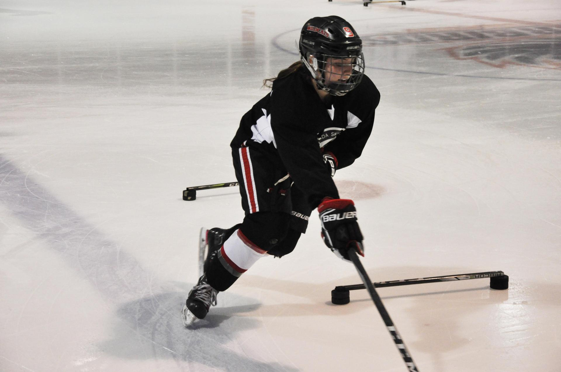 female player on ice