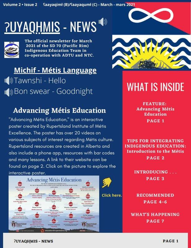 March Newsletter: Introducing the Métis Featured Photo