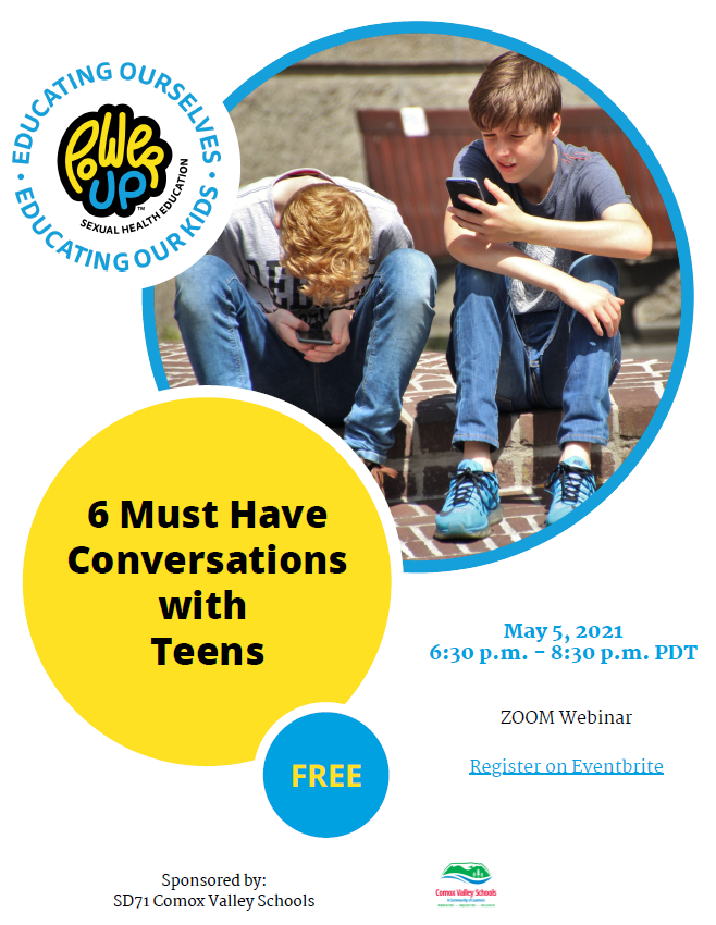 Free Workshop - 6 Must Have Conversations with Teens Image