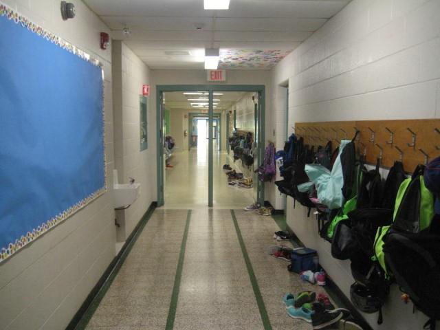 East hallway view