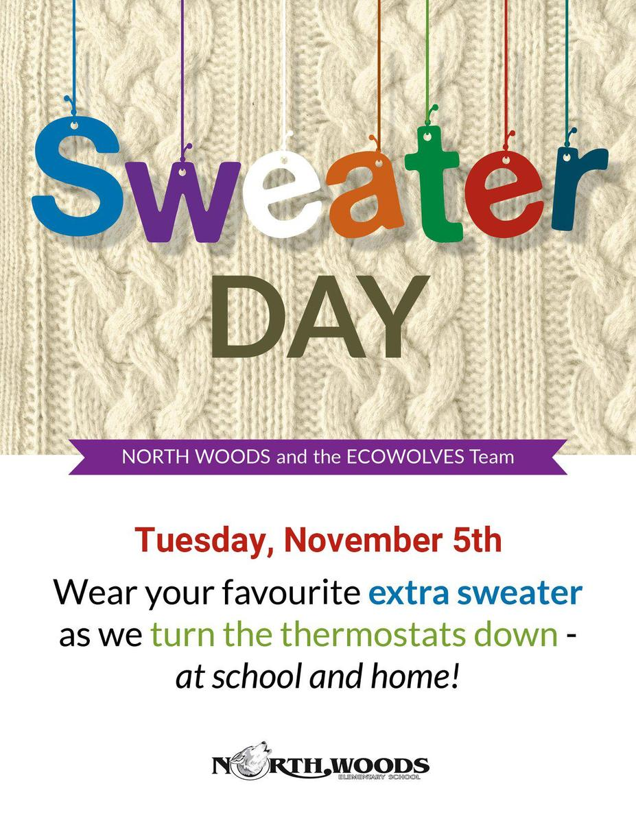 Sweater Day poster November 5th