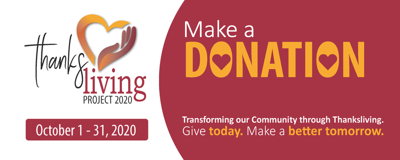 Thanksliving Project 2020 Banner