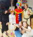 Students and staff in Halloween Costumes