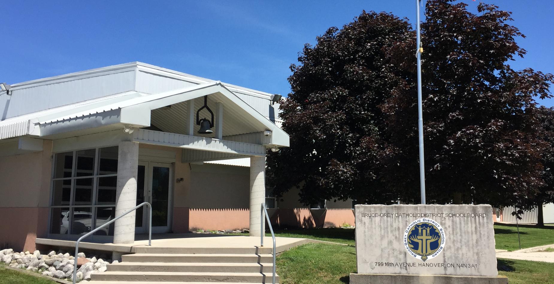 entrance to the Catholic Education Centre of BGCDSB