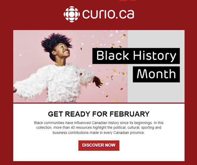 CBC Curio black history month