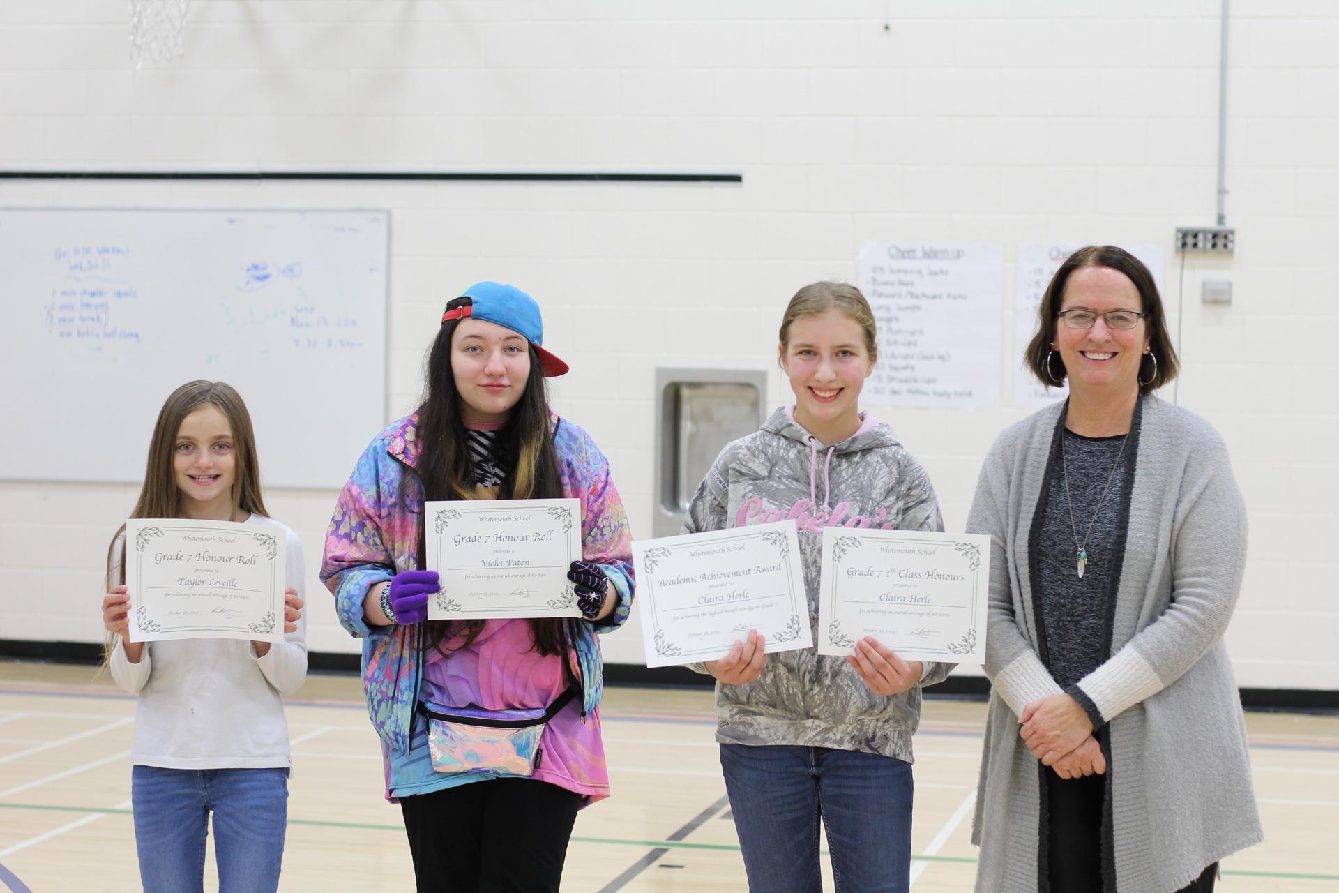 Grade 7 student awards