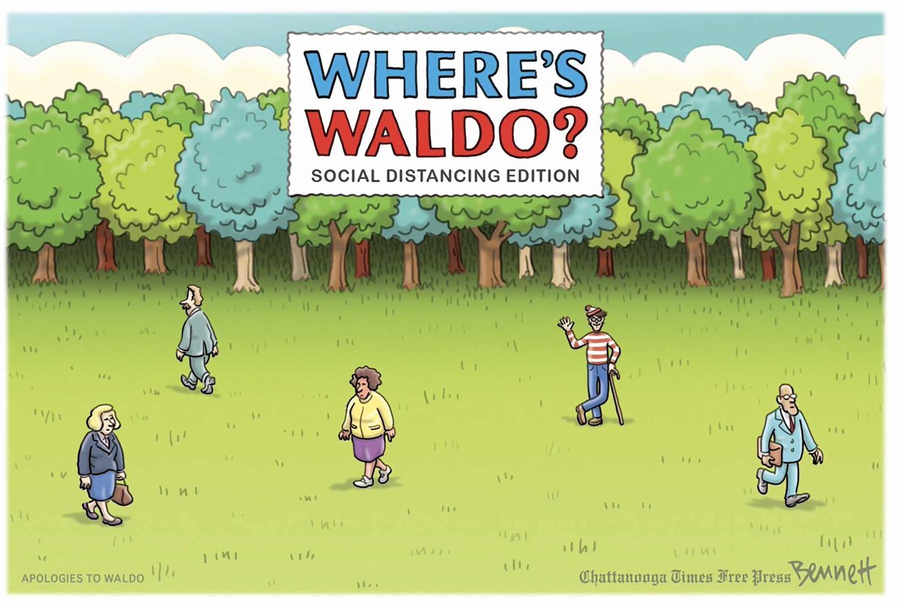 Where's Waldo, socially distancing version