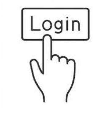 """Hand pointing to the word """"login"""""""